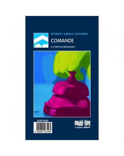 BLOCCO COMANDE A 2 COPIE 25X2 AUTORICALCANTE ( PER RISTORANTE E PIZZERIE )